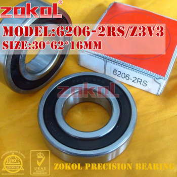 ZOKOL 6206RS rulman 6206 2RS RS Z3V3 180206 Z3V3 6206-2RS Derin Groove rulman 30*62*16mm