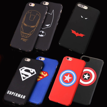 Marvel Demir Adam Spiderman Batman Superman Telefon Kılıfları iphone 8 Için Artı 7X6 6 S Artı Hard Case Arka Kapak Shell Fundas Coque